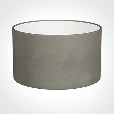 40cm Wide Cylinder Shade in Pewter Satin