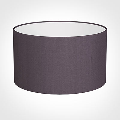 40cm Wide Cylinder Shade in Heather Silk