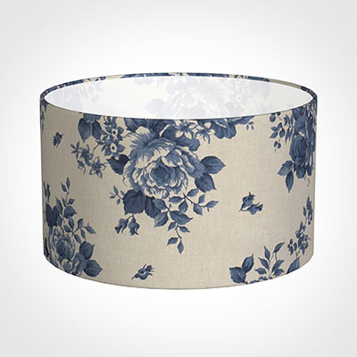 45cm Wide Cylinder Shade in Blue Bloom