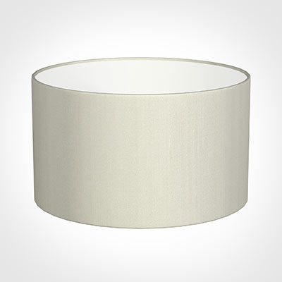 45cm Wide Cylinder Shade in Pearl Faux Silk