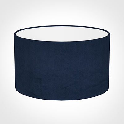 45cm Wide Cylinder Shade in Navy Blue Hunstanton