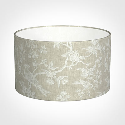 45cm Wide Cylinder Shade in White Isabelle