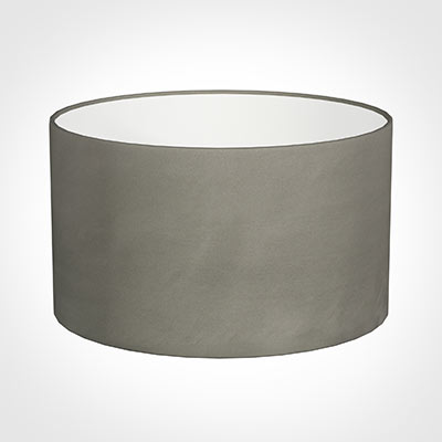 45cm Wide Cylinder Shade in Pewter Satin