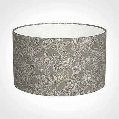 50cm Wide Cylinder Shade in Grey Cheveley