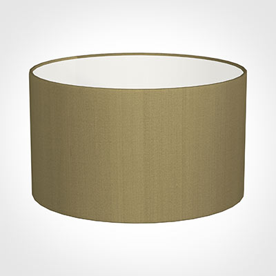 50cm Wide Cylinder Shade in Dull Gold Faux Silk