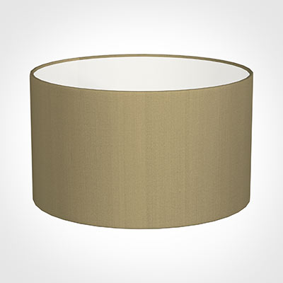 50cm Wide Cylinder Shade in Oyster Faux Silk