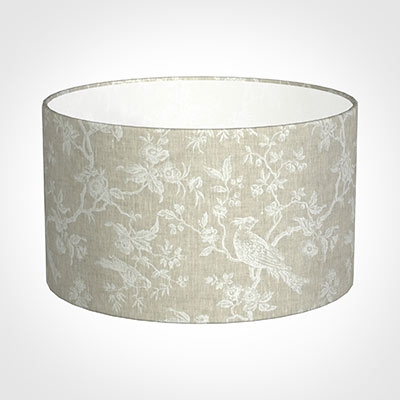 50cm Wide Cylinder Shade in White Isabelle