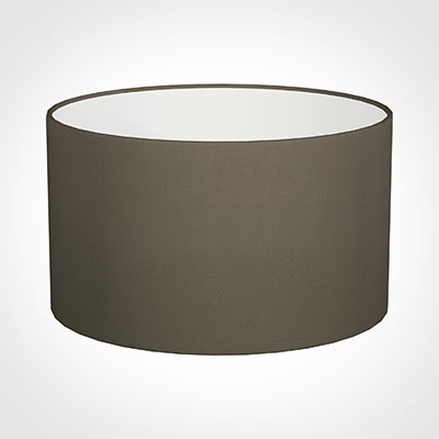50cm Wide Cylinder Shade in Bark Satin