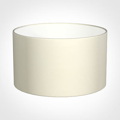 50cm Wide Cylinder Shade in Cream Satin