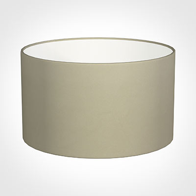 50cm Wide Cylinder Shade in Pale Smoke Satin