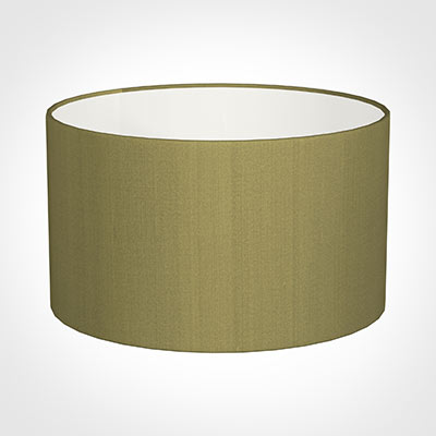 50cm Wide Cylinder Shade in Antique Gold Silk