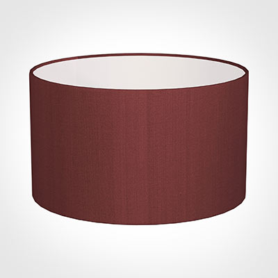 50cm Wide Cylinder Shade in Antique Red Silk