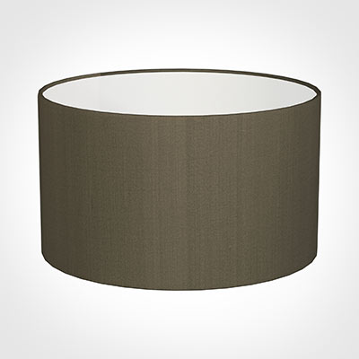 50cm Wide Cylinder Shade in Bronze Brown Silk