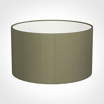 50cm Wide Cylinder Shade in Watered Green Silk