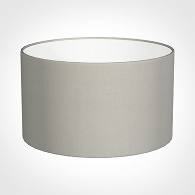 50cm Wide Cylinder Shade in Soft Grey Waterford Linen