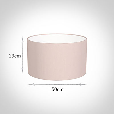 50cm Wide Cylinder Shade in Vintage Pink Waterford