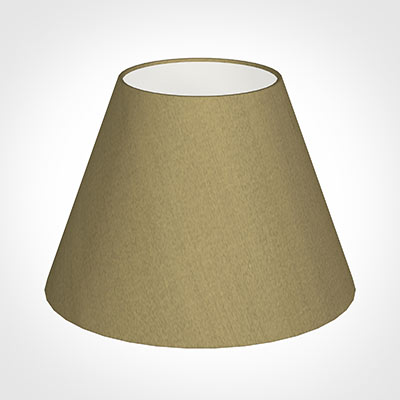 25cm Empire Shade in Dull Gold Faux Silk