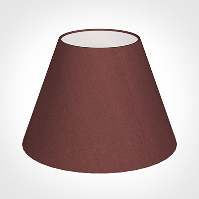 25cm Empire Shade in Old Red Faux Silk