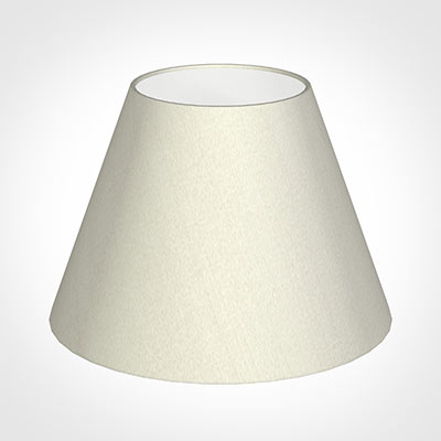 25cm Empire Shade in Pearl Faux Silk