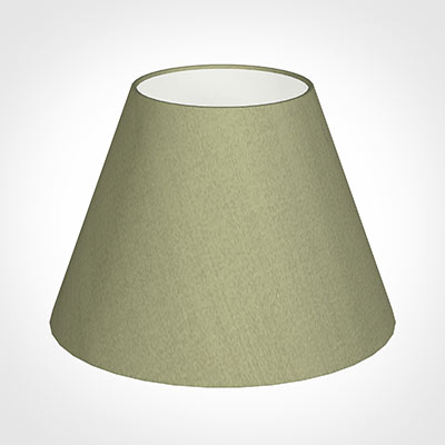 25cm Empire Shade in Pale Green Faux Silk