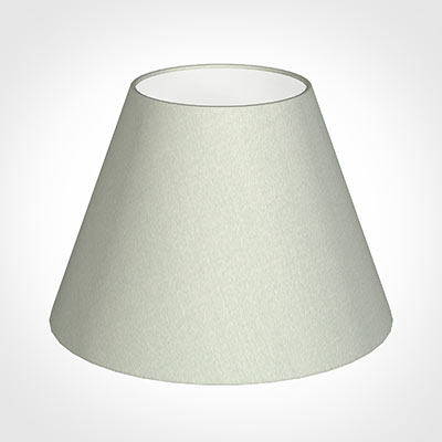 25cm Empire Shade in Soft Grey Faux Silk