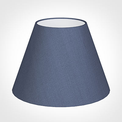30cm Empire Shade in Blue Faux Silk