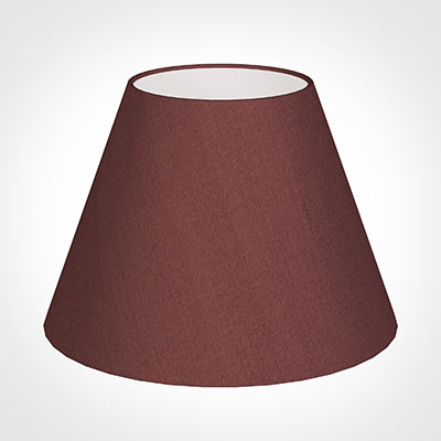 30cm Empire Shade in Old Red Faux Silk