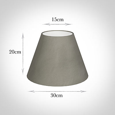 30cm Empire Shade in Pewter Satin