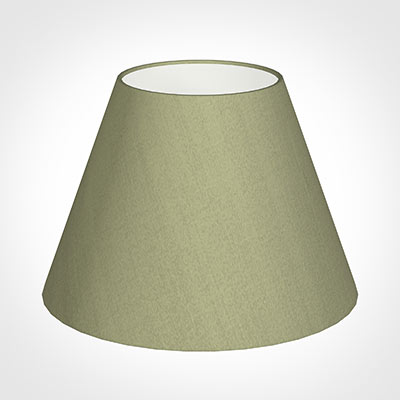 35cm Empire Shade in Pale Green Faux Silk