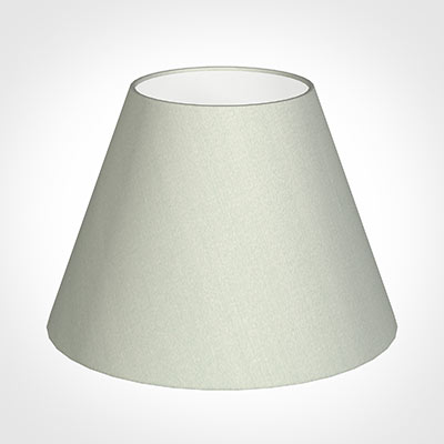 35cm Empire Shade in Soft Grey Faux Silk