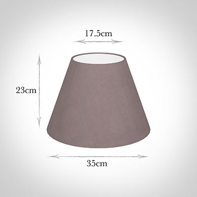 35cm Empire Shade in Dusky Pink Hunstanton Velvet