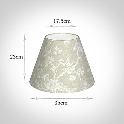 35cm Empire Shade in White Isabelle