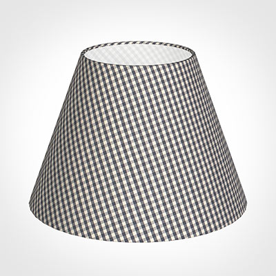 35cm Empire Shade in Stone Grey Gingham
