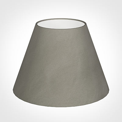 35cm Empire Shade in Pewter Satin