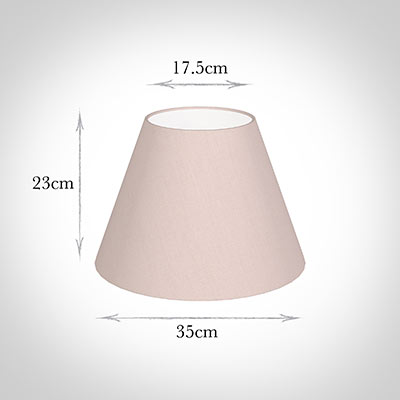35cm Empire Shade in Vintage Pink Waterford Linen