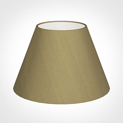 40cm Empire Shade in Dull Gold Faux Silk