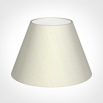 40cm Empire Shade in Pearl Faux Silk