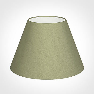 40cm Empire Shade in Pale Green Faux Silk