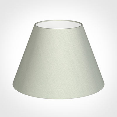 40cm Empire Shade in Soft Grey Faux Silk