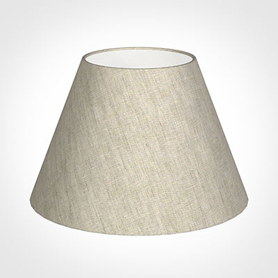 40cm Empire Shade in Natural Isabelle Linen -Lamp Base Only