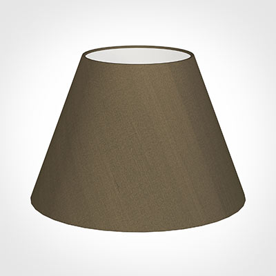 45cm Empire Shade in Bronze Faux Silk