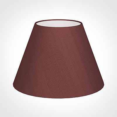 45cm Empire Shade in Old Red Faux Silk