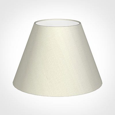 45cm Empire Shade in Pearl Faux Silk