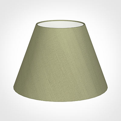 45cm Empire Shade in Pale Green Faux Silk