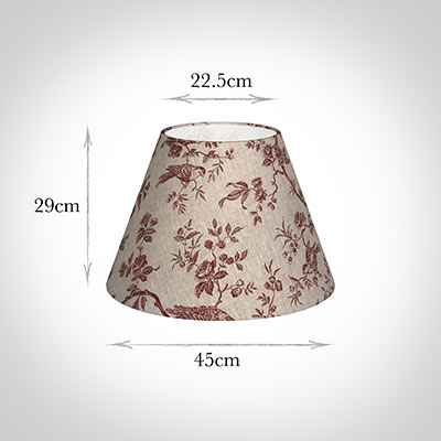 45cm Empire Shade in Red Isabelle