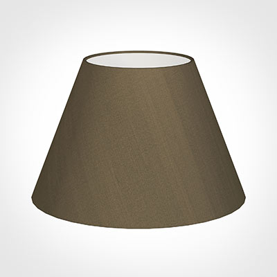 50cm Empire Shade in Bronze Faux Silk