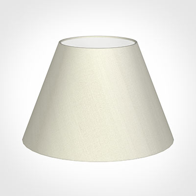 50cm Empire Shade in Pearl Faux Silk