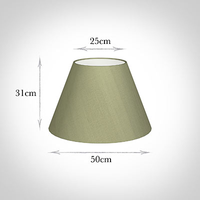 50cm Empire Shade in Pale Green Faux Silk