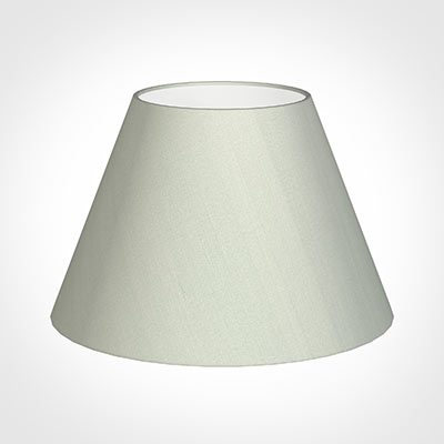 50cm Empire Shade in Soft Grey Faux Silk