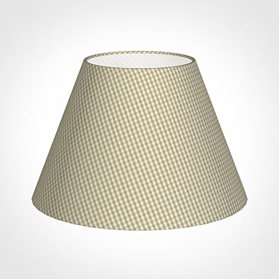 50cm Empire Shade in Natural Longford Gingham